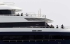Officers from the Attorney Generals Chambers and the High Court inspect the seized luxury yacht Equanimity, belonging to fugitive Malaysian financier Low Taek Jho, at Boustead Cruise Terminal in Port Klang, Malaysia Aug 7, 2018. REUTERS