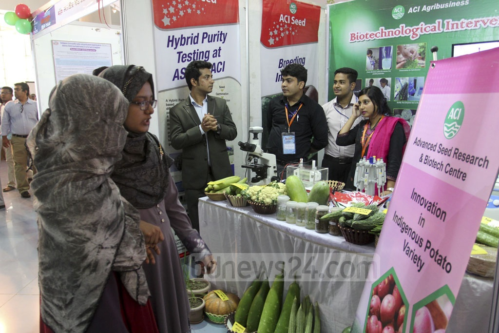 A two-day National Biotechnology Fair, organised by the science and technology ministry, kicked off at the Bangabandhu Novo Theatre in Dhaka on Friday. Photo: Asif Mahmud Ove