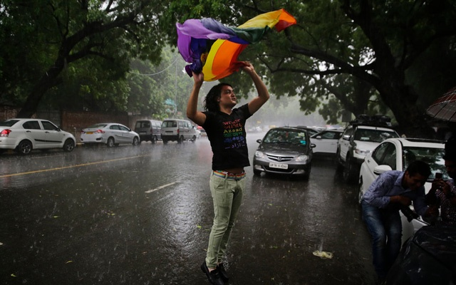 A gay rights activist celebrated in New Delhi on Thursday after India's top court struck down a colonial-era law that criminalised consensual gay sex. The New York Times