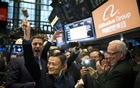 File Photo: Jack Ma, chairman of Alibaba, prepares to ring the bell at the New York Stock Exchange on Sept 19, 2014. Ma, China's richest man, plans to retire from his e-commerce company to focus on philanthropy. The New York Times