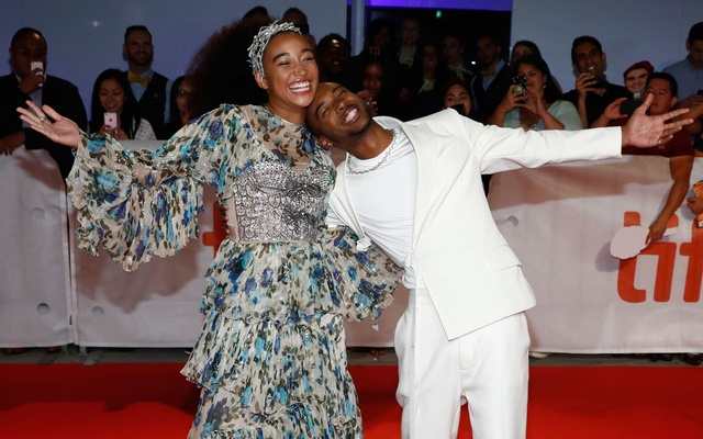 Actor Amandla Stenberg and Algee Smith pose at the world premiere of The Hate U Give at the Toronto International Film Festival in Toronto, Canada, Sep 7, 2018. Reuters