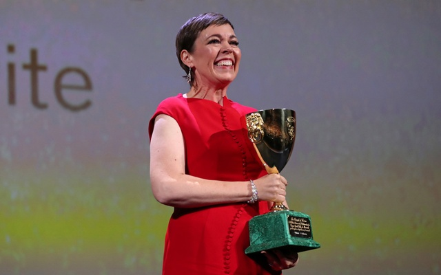 The 75th Venice International Film Festival - Awards Ceremony - Venice, Italy, Sep 8, 2018 - Olivia Colman wins the Coppa Volpi for Best Actress. Reuters