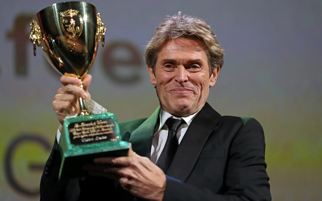 The 75th Venice International Film Festival - Awards Ceremony - Venice, Italy, Sep 8, 2018 - Willem Dafoe wins the Coppa Volpi for Best Actor. Reuters