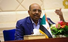 Sudan's President Omar Hassan al-Bashir speaks during a press conference after the oath of the prime minister and first vice president Bakri Hassan Saleh at the palace in Khartoum, Sudan, Mar 2, 2017. REUTERS
