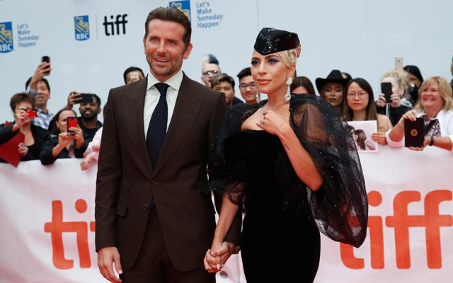Actor Bradley Cooper poses with Lady Gaga at the world premiere of A Star is Born at the Toronto International Film Festival (TIFF) in Toronto, Canada, Sep 9, 2018. REUTERS