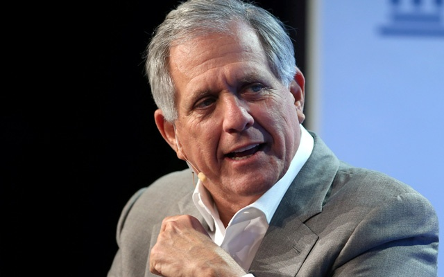 File Photo: Leslie Moonves, Chairman and CEO, CBS Corporation, speaks during the Milken Institute Global Conference in Beverly Hills, California, US, May 3, 2017. Reuters