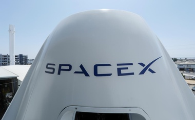 The top of a replica Crew Dragon spacecraft is show at SpaceX headquarters in Hawthorne, California, US Aug 13, 2018. Reuters