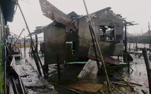 A damaged house is seen after Typhoon Mangkhut hits Philippines, Bolinao, Pangasinan, Philippines September 15, 2018
