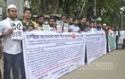 Bangladesh General Students' Council formed a human-chain in front of the National Press Club on Friday demanding that the maximum age for entering government jobs be raised to 35.