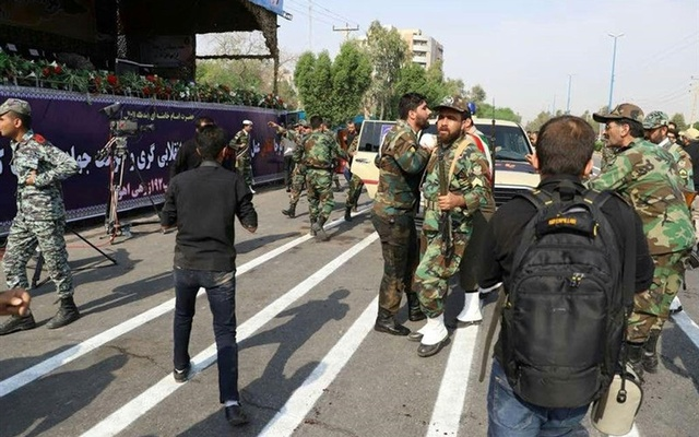 11 martyred, 30 injured in terror attack on military parade in Ahvaz