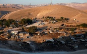 A general view shows the main part of the Palestinian Bedouin encampment of Khan al-Ahmar village that Israel plans to demolish, in the occupied West Bank Sep 11, 2018. REUTERS