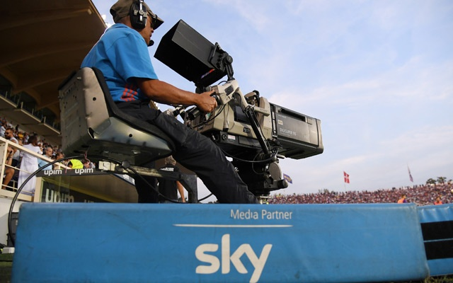 Soccer Football - Serie A - Fiorentina v SPAL - Stadio Artemio Franchi, Florence, Italy - Sept 22, 2018 Sky cameraman during the match Reuters