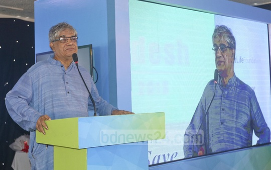 Post, Telecommunications and IT Minister Mustafa Jabbar addressing the launch of the i3 ((innovate, implement and impact) Program Bangladesh by MetLife Foundation and MicroSave at a Dhaka hotel on Monday. Photo: Abdullah Al Momin