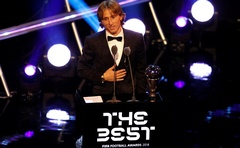 Luka Modric after winning the Best Men's Player award. Football - The Best FIFA Football Awards - Royal Festival Hall, London, Britain - September 24, 2018. Action Images via Reuters