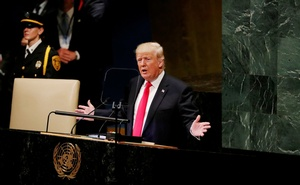 US President Donald Trump addresses the 73rd session of the United Nations General Assembly at UN headquarters in New York, US, September 25, 2018. Reuters