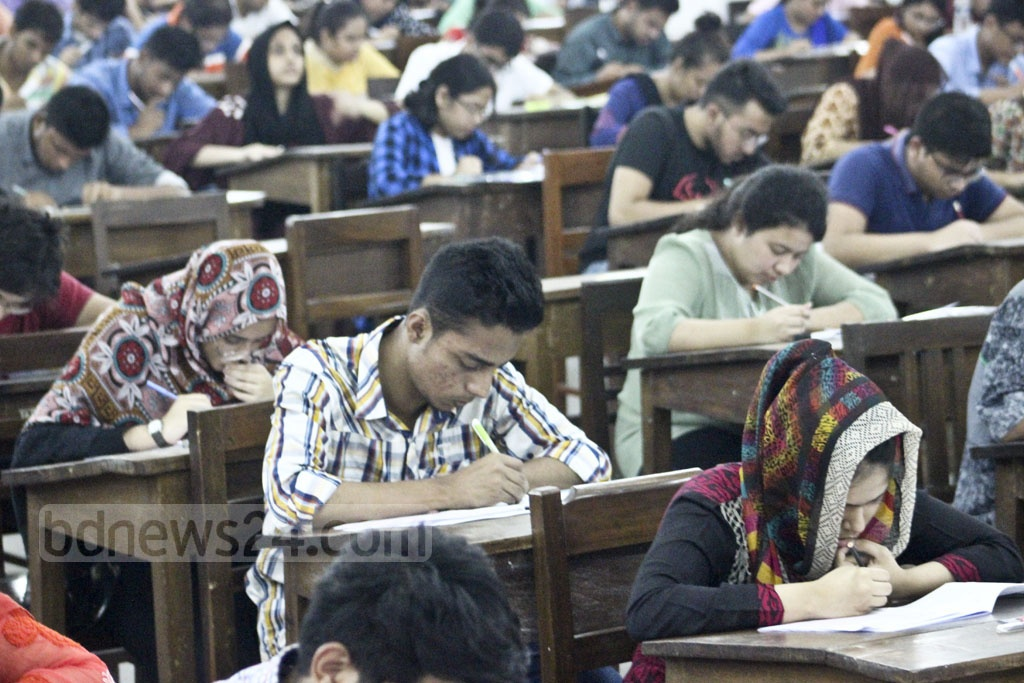 Dhaka University's 'A' unit admission test was held on Friday.