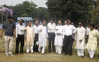 BNP leaders inspect Dhaka's Suhrawardy Udyan on Saturday after receiving permission to hold a rally there on Sunday.