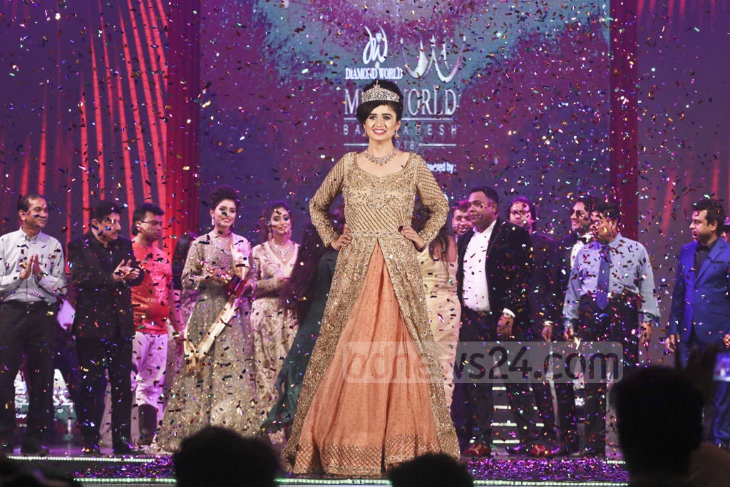 Jannatul Ferdous Oishi has been crowned Miss World Bangladesh 2018 from 30,000 contestants. The final round of the contest was held at the International Convention City Bashundhara in Dhaka on Sunday. Photo: Abdullah Al Momin