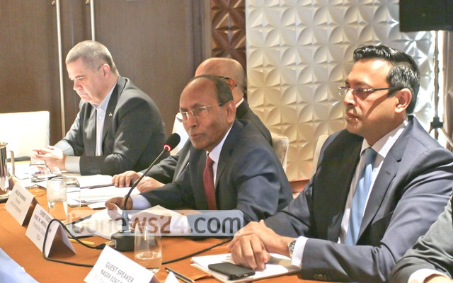 Kazi M Aminul Islam, Executive Chairman of Bangladesh Investment Development Authority, speaking at a discussion jointly organised by the Canada Bangladesh Chamber of Commerce and BIDA at a Dhaka hotel on Wednesday. Photo: Asif Mahmud Ove