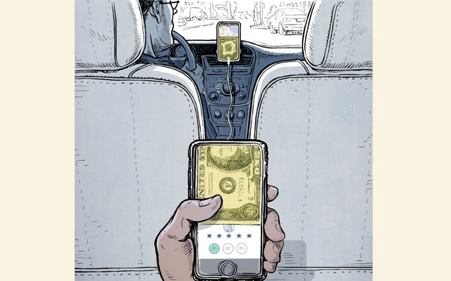 Uber added tipping to its app just over a year ago, and other rideshare services have allowed riders to tip their drivers for longer than that. But do drivers expect or rely on them? (Lars Leetaru/The New York Times)