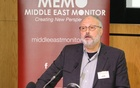 Saudi dissident Jamal Khashoggi speaks at an event hosted by Middle East Monitor in London. REUTERS