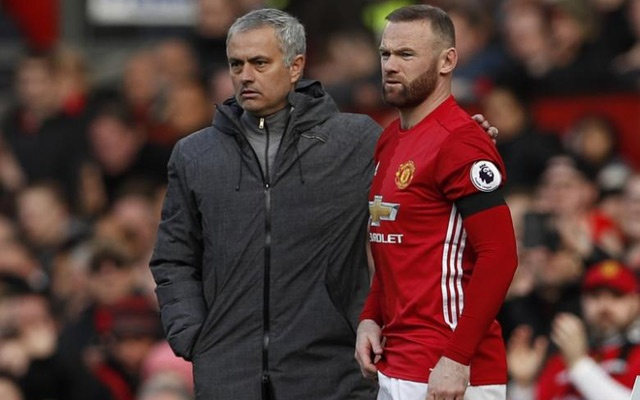 File Photo: Manchester United's Wayne Rooney prepares to come on as a substitute as Manchester United manager Jose Mourinho looks on. Manchester United v West Bromwich Albion - Premier League - Old Trafford - 1/4/17. Action Images via Reuters/Lee Smith Livepic