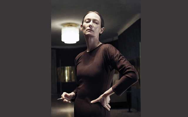 The actress Tilda Swinton in the new film 'Suspiria.' The movie, a remake of Dario Argento's 1977 horror classic, is due Oct 26, 2018. The New York Times