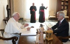 Chile's President Sebastian Pinera meets Pope Francis during a private audience at the Vatican Oct 13, 2018. REUTERS