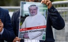 A demonstrator holds picture of Saudi journalist Jamal Khashoggi during a protest in front of Saudi Arabia's consulate in Istanbul, Turkey, Oct 5, 2018. Reuters