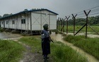 A Myanmar police officer in a fortified post in Maungdaw Township, Myanmar, Jul 26, 2018. The New York Times