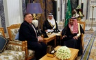 Saudi Arabia's King Salman bin Abdulaziz Al Saud meets with U.S. Secretary of State Mike Pompeo in Riyadh, Saudi Arabia, October 16, 2018. REUTERS
