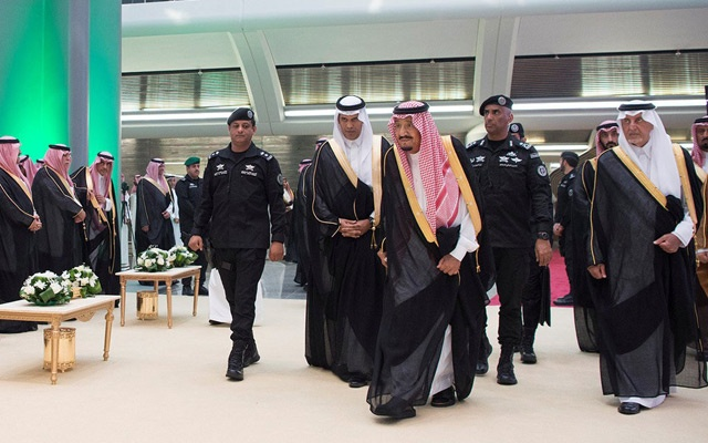 King Salman with Khalid al-Faisal, right. Prince Khalid is among few thought to have the influence that would be required to curb Prince Mohammed's power. The New York Times