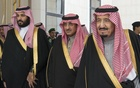 The Saudi crown prince, Mohammed bin Salman, left, with Prince Mohammed bin Nayef, centre, and King Salman. The royal family consists of thousands of descendants of the king who founded the country. The New York Times