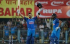 India's Kohli, Rohit hit tons to flatten West Indies