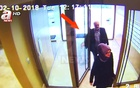 A Still image taken from CCTV video and obtained by A News claims to show Saudi journalist Jamal Khashoggi and his fiancee entering their residence on the day he disappeared in Istanbul, Turkey October 2, 2018. Courtesy A News/Handout via REUTERS