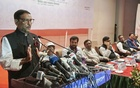 Road Transport and Bridges Minister Obaidul Quader speaking at a discussion in Dhaka on Monday marking National Road Safety Day.