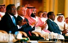 Saudi Crown Prince Mohammed bin Salman and Jordan's King Abdullah II ibn Al Hussein attend the investment conference in Riyadh, Saudi Arabia October 23, 2018. Reuters