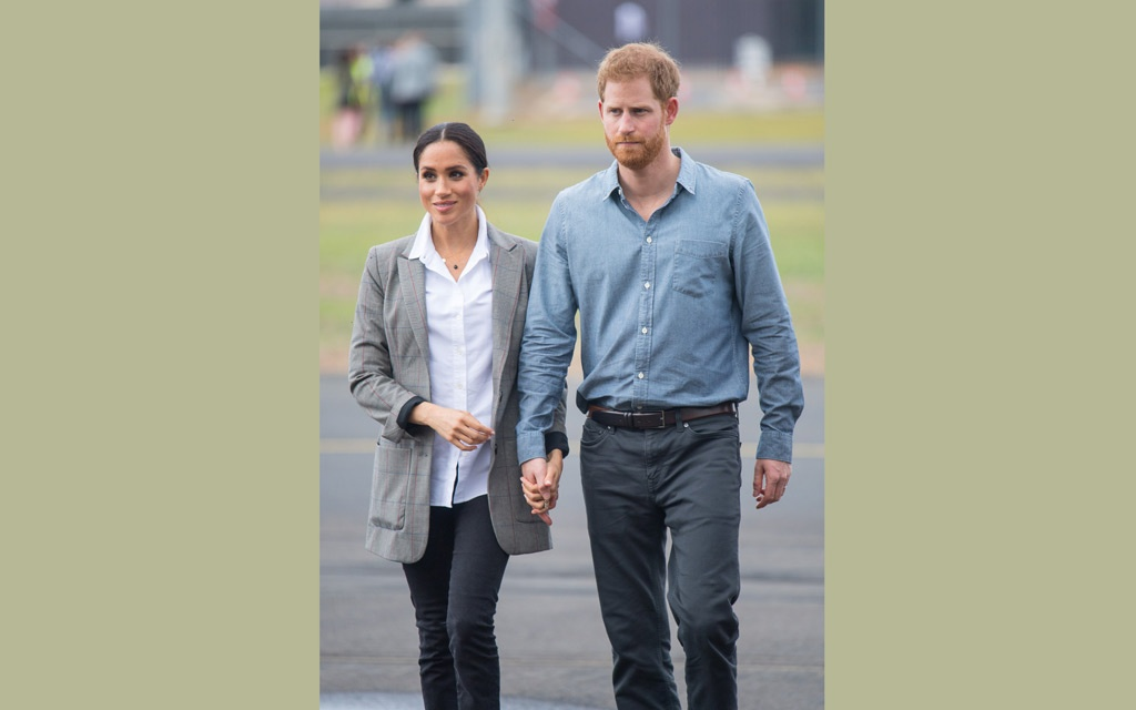The Duke and Duchess of Sussex attend the naming and unveiling of a new Royal Flying Doctor Service aircraft at Dubbo City Regional Airport, in Dubbo, New South Wales, on the second day of the royal couple's visit to Australia. Wednesday October 17, 2018. Dominic Lipinski /Pool via REUTERS