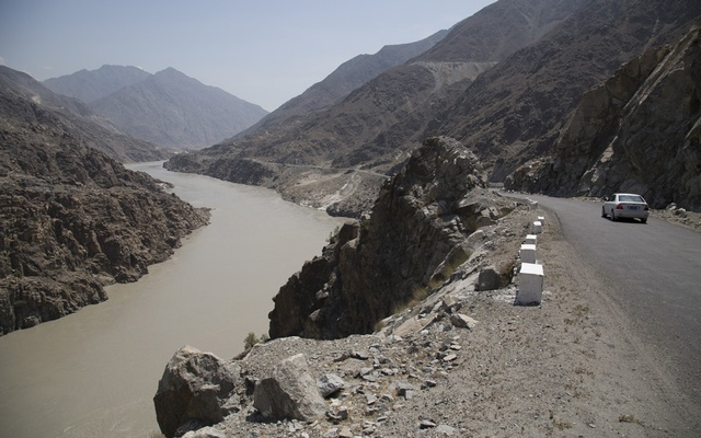 The area where the Diamer-Bhasha Dam would be built over the Indus River in Gilgit-Baltistan, Pakistan, Aug. 2018. The government is asking Pakistanis at home and abroad to help fund the project. (Danial Shah/The New York Times)