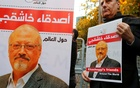 File Photo: Friends of Saudi journalist Jamal Khashoggi hold posters and banners with his pictures during a demonstration outside the Saudi Arabia consulate in Istanbul, Turkey October 25, 2018. Reuters