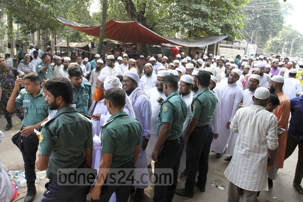 Heavy security was present at the Qawmi thanksgiving rally held at Dhaka's Suhrawardy Udyan on Sunday.