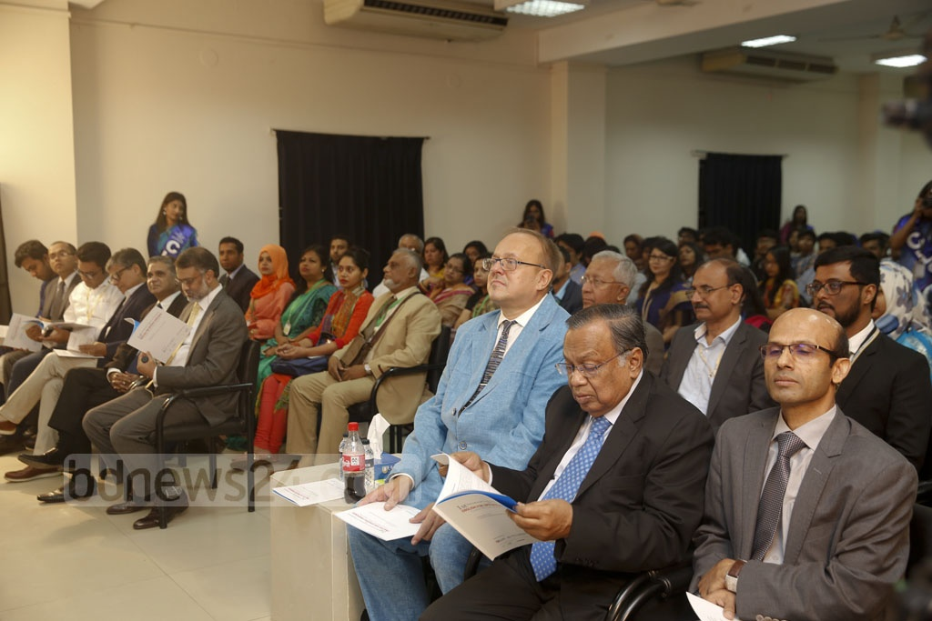 "Academics, employers, employees and other stakeholders attend an international conference on ""English for Specific Purposes"" in Dhaka on Friday. Photo: Mostafigur Rahman"