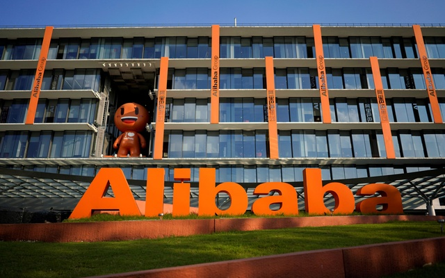 FILE PHOTO: The logo of Alibaba Group is seen at the company's headquarters in Hangzhou, Zhejiang province, China Jul 20, 2018. REUTERS/Aly Song/File Photo