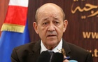 French Foreign Affairs Minister Jean-Yves Le Drian speaks during a news conference with his Tunisian counterpart Khemaies Jhinaoui in Tunis, Tunisia Oct 22, 2018. REUTERS
