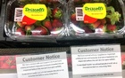 The strawberry contamination scare led Australian supermarkets to post warning notices like the one above in the town of Mudgee in September. Some markets stopped stocking the fruit entirely. Reuters