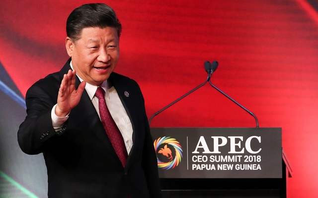 President of China Xi Jinping arrives for the APEC CEO Summit 2018 at Port Moresby, Papua New Guinea, Nov 17 2018. Fazry Ismail/Pool via REUTERS