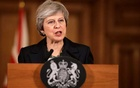 Britain's Prime Minister Theresa May holds a news conference at Downing Street in London, Britain Nov 15, 2018. Matt Dunham/Pool via Reuters