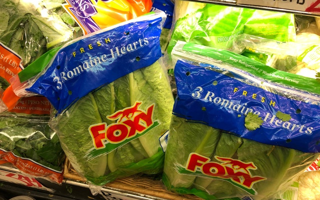 Romaine lettuce is displayed on a grocery store shelf in New York City, US November 21, 2018. Reuters