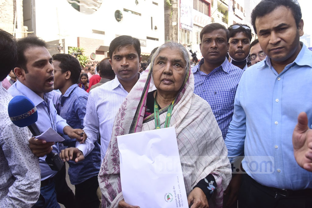 Agriculture Minister Matia Chowdhury will fight for the Sherpur-2 parliamentary seat as the Awami League candidate. Photo: Abdullah Al Momin