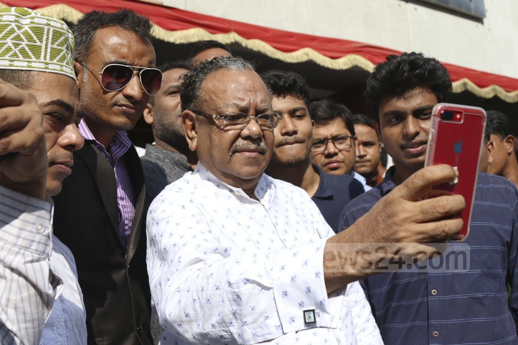 Former health minister AFM Ruhal Haque was nominated by the Awami League on Sunday to run again for Satkhira-3 constituency in the general elections. Photo: Abdullah Al Momin